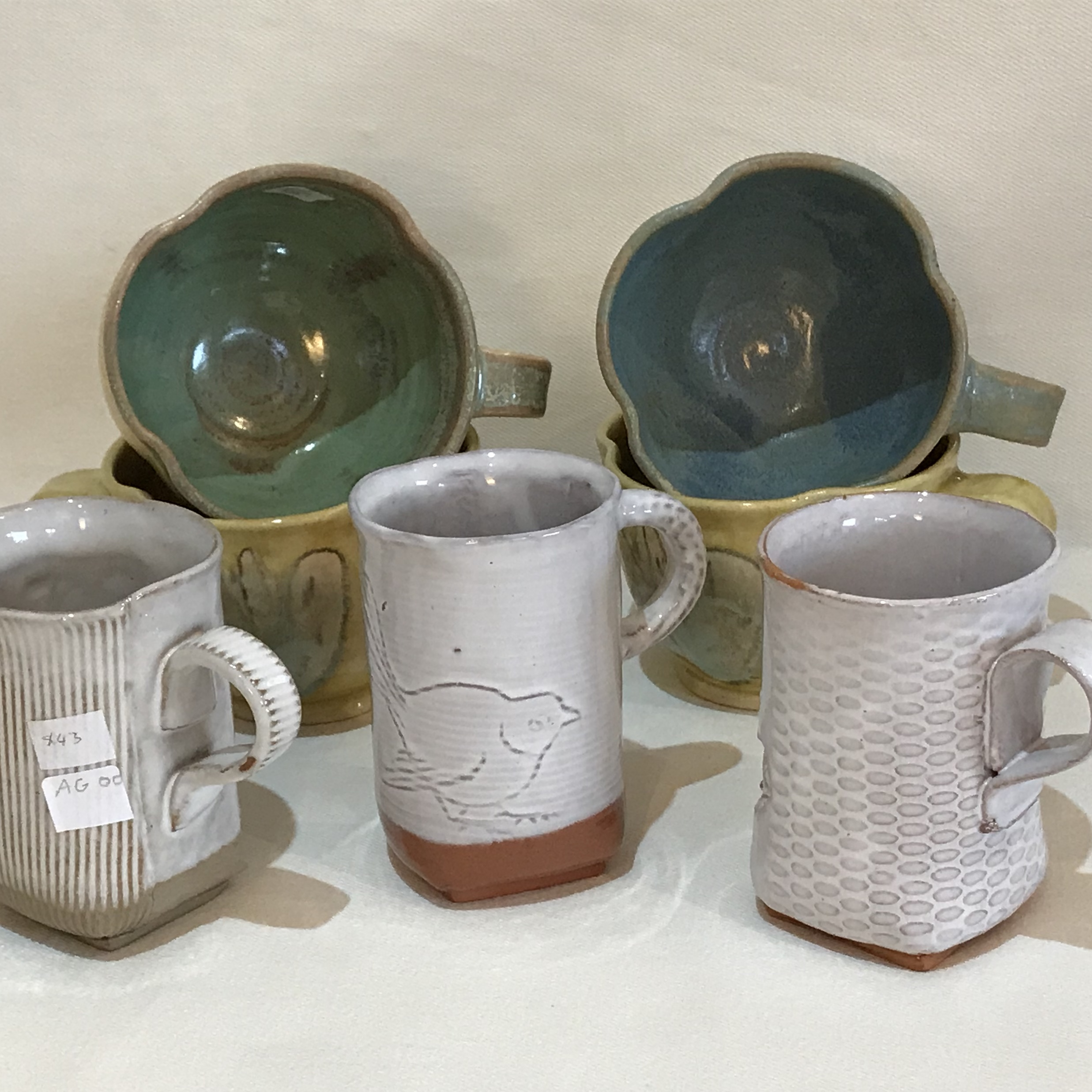 A collection of cups from our potters
