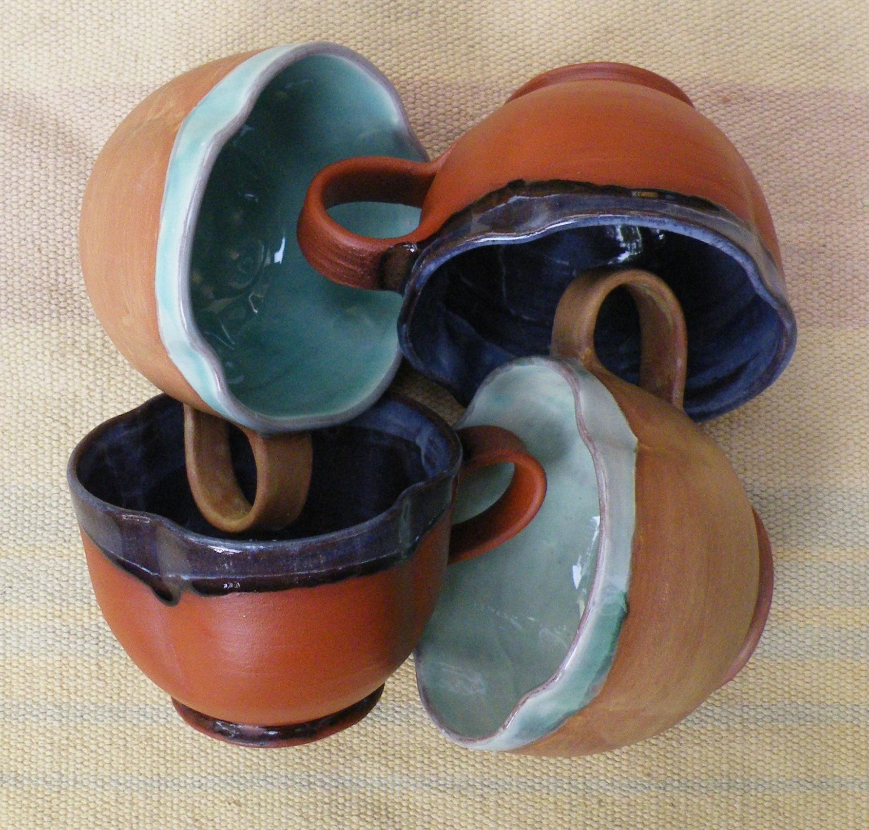 A decent sized Tea Cup handmade from terracotta